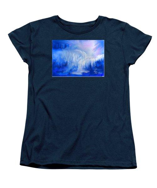 Ice Falls Women's T-Shirt (Standard Cut) by Sherri's Of Palm Springs