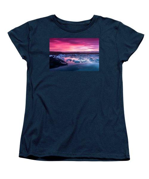 Iceberg In Jokulsarlon Glacial Lagoon Women's T-Shirt (Standard Cut) by Joe Belanger
