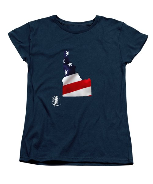 Idaho State Map Collection Women's T-Shirt (Standard Cut) by Marvin Blaine