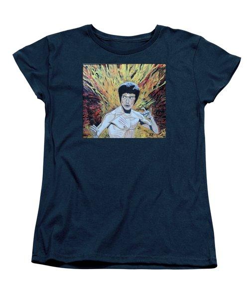 In The Midst Of The Fire,be Like Water. Women's T-Shirt (Standard Cut) by Ken Zabel