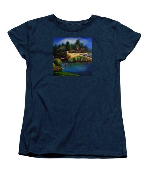 Japanese Gardens - Original Sold Women's T-Shirt (Standard Cut) by Therese Alcorn