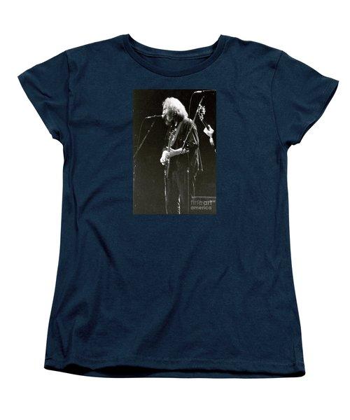 Women's T-Shirt (Standard Cut) featuring the photograph Grateful Dead - Jerry Garcia - Celebrities by Susan Carella