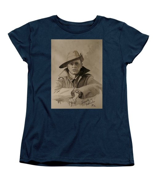 Women's T-Shirt (Standard Cut) featuring the painting Joe by Ray Agius