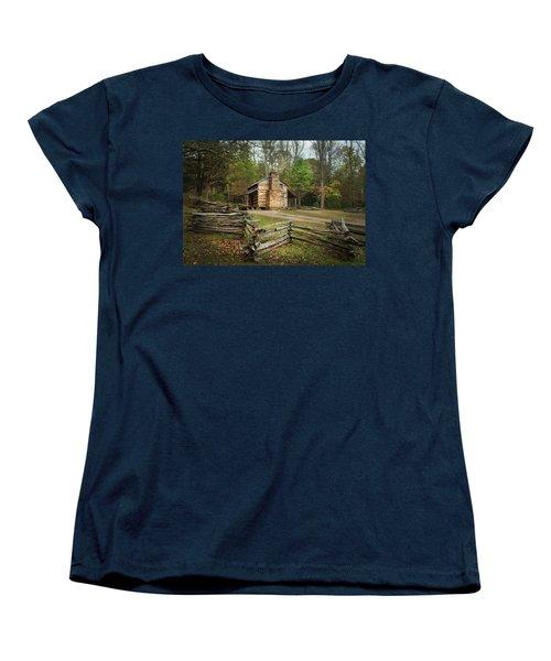 John Oliver Cabin Cades Cove Women's T-Shirt (Standard Cut) by Lena Auxier
