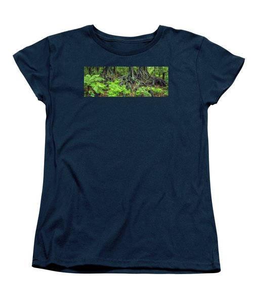 Women's T-Shirt (Standard Cut) featuring the photograph Jungle Roots by Les Cunliffe