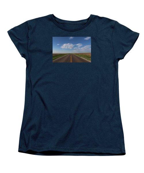 Kansas Road Women's T-Shirt (Standard Cut) by Suzanne Lorenz