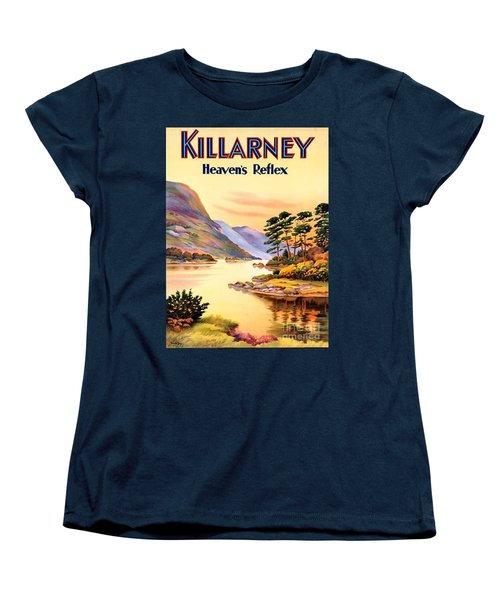 Women's T-Shirt (Standard Cut) featuring the painting Killarney by Pg Reproductions