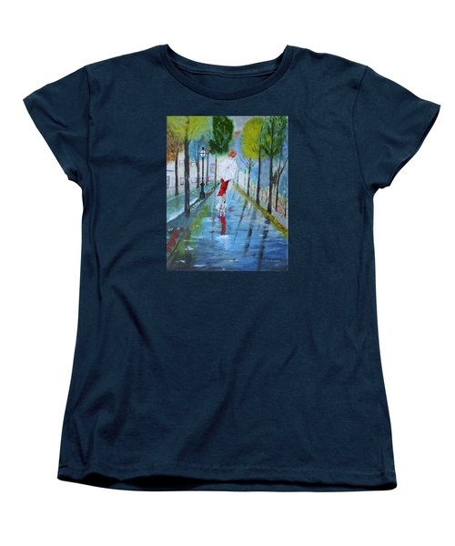 Lady In Red Original Version Women's T-Shirt (Standard Cut) by Dick Bourgault