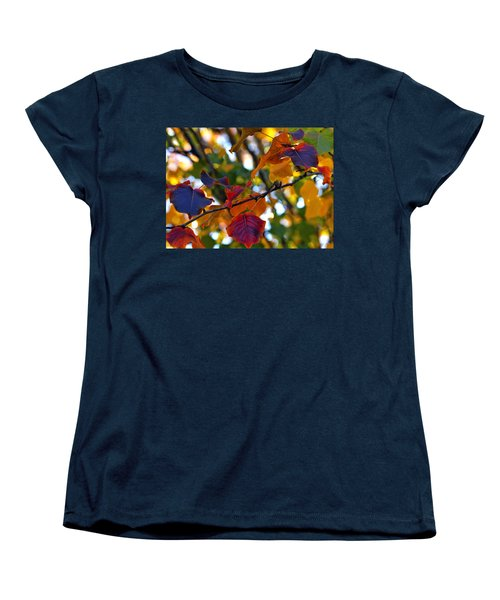 Leaves Of Autumn Women's T-Shirt (Standard Cut) by Stephen Anderson