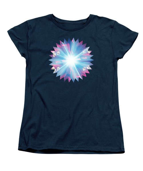 Women's T-Shirt (Standard Cut) featuring the painting Let There Be Light by Leanne Seymour