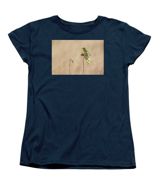 Women's T-Shirt (Standard Cut) featuring the tapestry - textile Little Bee-eater by Kathy Adams Clark