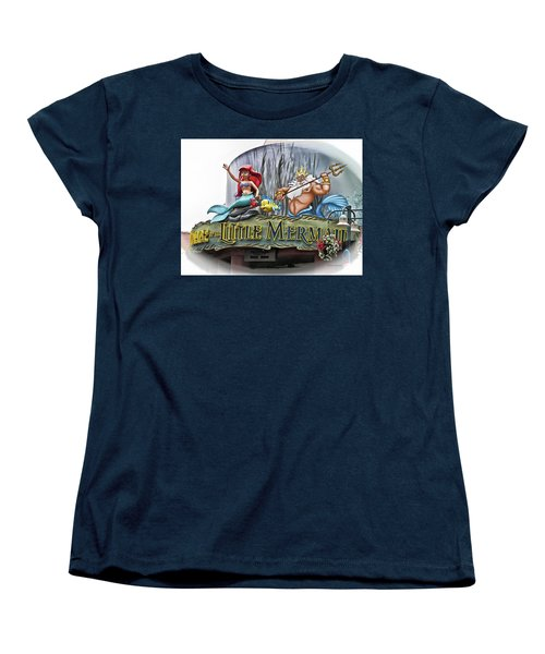 Little Mermaid Signage Mp Women's T-Shirt (Standard Cut) by Thomas Woolworth
