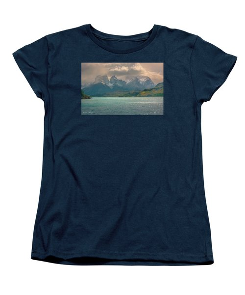 Women's T-Shirt (Standard Cut) featuring the photograph Los Cuernos  by Andrew Matwijec