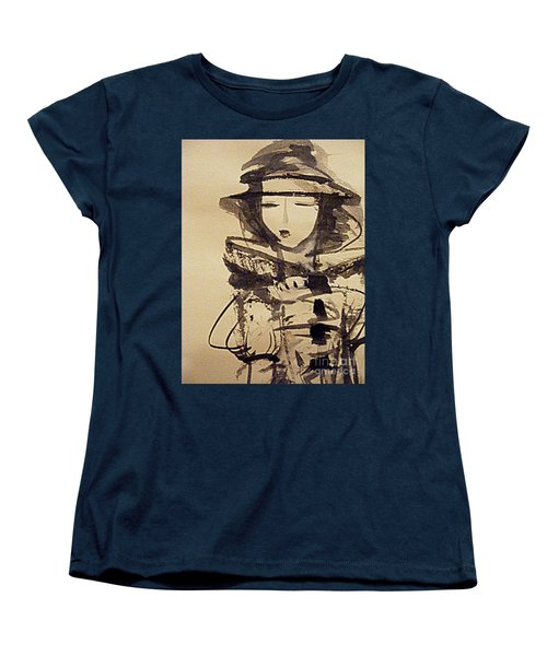 Lost In Thought Women's T-Shirt (Standard Cut) by Nancy Kane Chapman