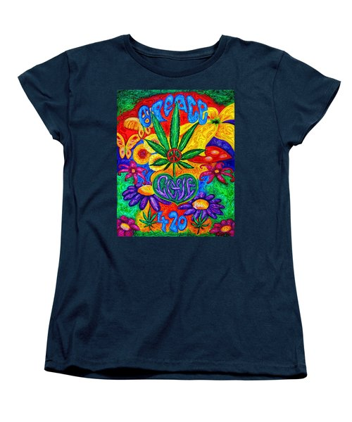 Love And Peace Women's T-Shirt (Standard Cut) by Diana Haronis