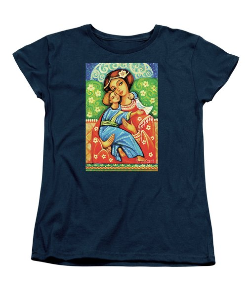 Women's T-Shirt (Standard Cut) featuring the painting Madonna And Child by Eva Campbell