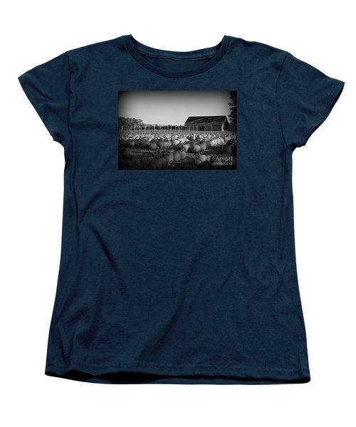 Make Way For Pumpkins Women's T-Shirt (Standard Cut) by Barbara Bardzik