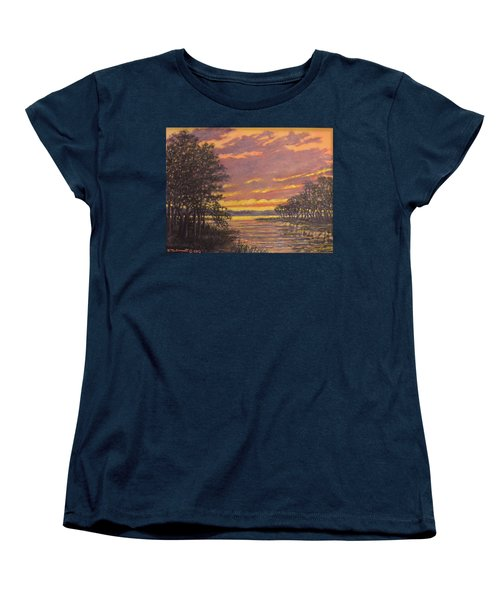Women's T-Shirt (Standard Cut) featuring the painting Marsh Sketch # 7 by Kathleen McDermott