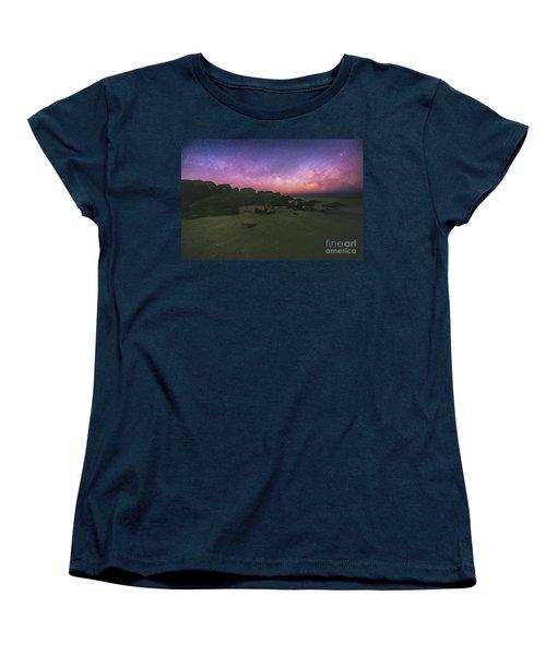 Milky Way Beach Women's T-Shirt (Standard Cut) by Robert Loe