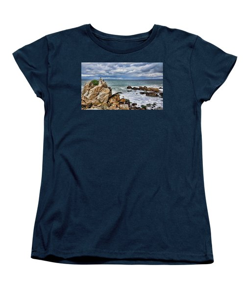 Women's T-Shirt (Standard Cut) featuring the photograph Monterey Bay by Gina Savage