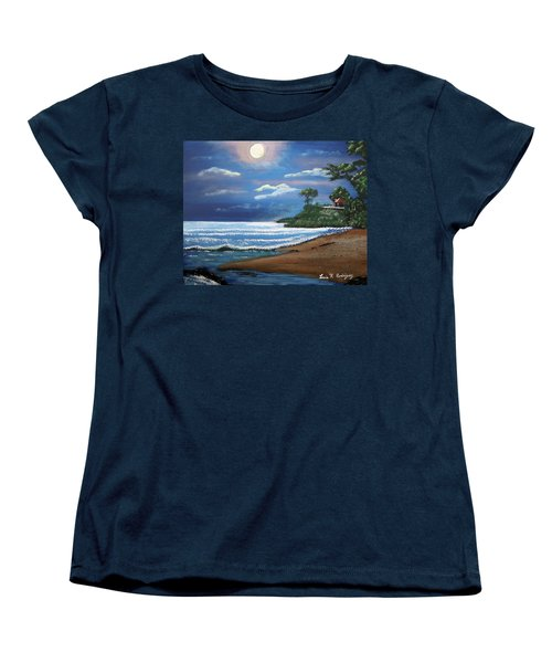 Moonlight In Rincon II Women's T-Shirt (Standard Cut) by Luis F Rodriguez
