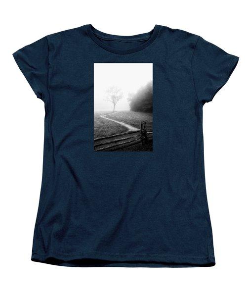 Morning Path Women's T-Shirt (Standard Cut) by Deborah Scannell