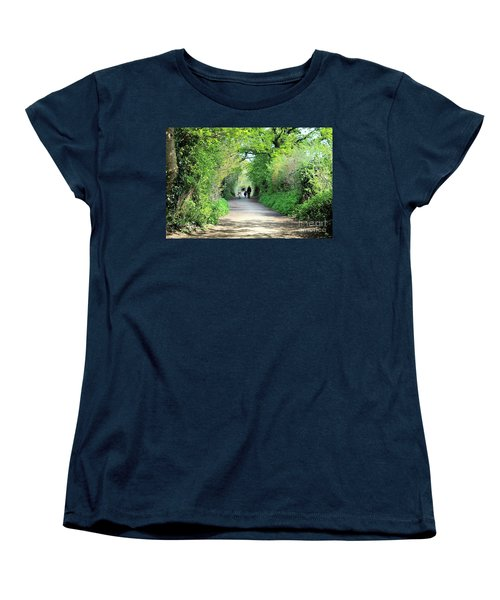 Morning Walk Women's T-Shirt (Standard Cut) by Katy Mei