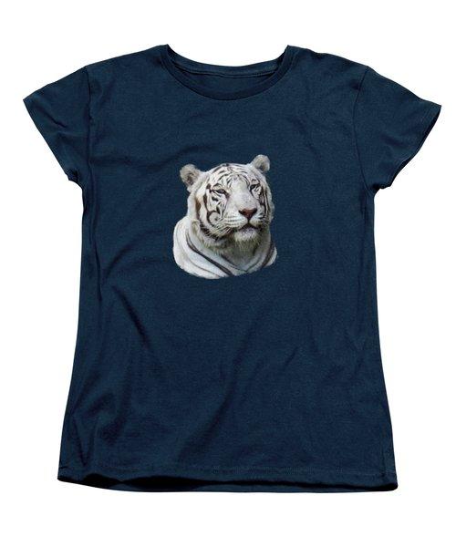 Namaste White Tiger Women's T-Shirt (Standard Cut) by Pamela Walton
