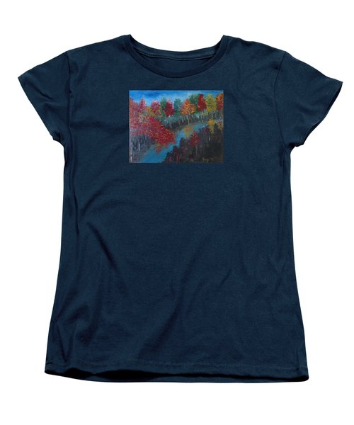 New Hampshire In Autumn Women's T-Shirt (Standard Cut) by Roxy Rich