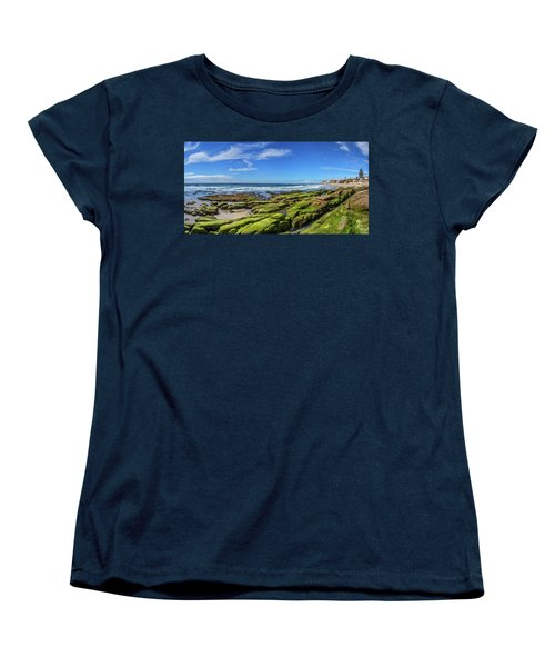Women's T-Shirt (Standard Cut) featuring the photograph On The Rocky Coast by Peter Tellone