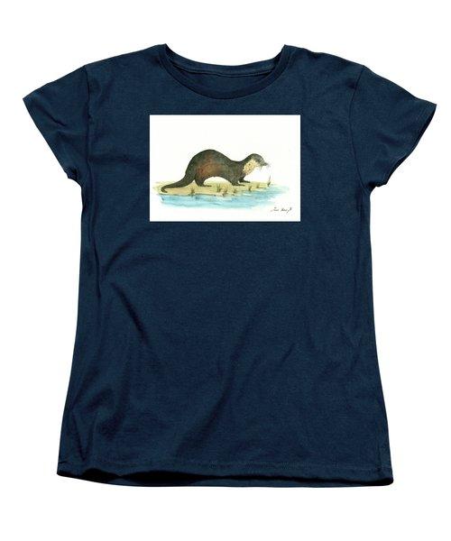 Otter Women's T-Shirt (Standard Cut) by Juan Bosco