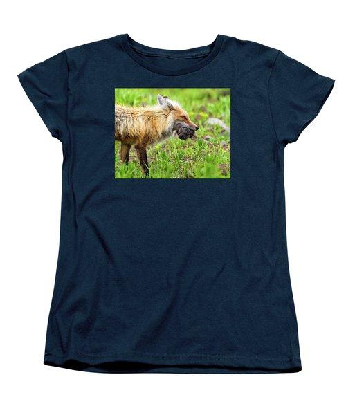 Out Foxed  Women's T-Shirt (Standard Cut) by Scott Warner