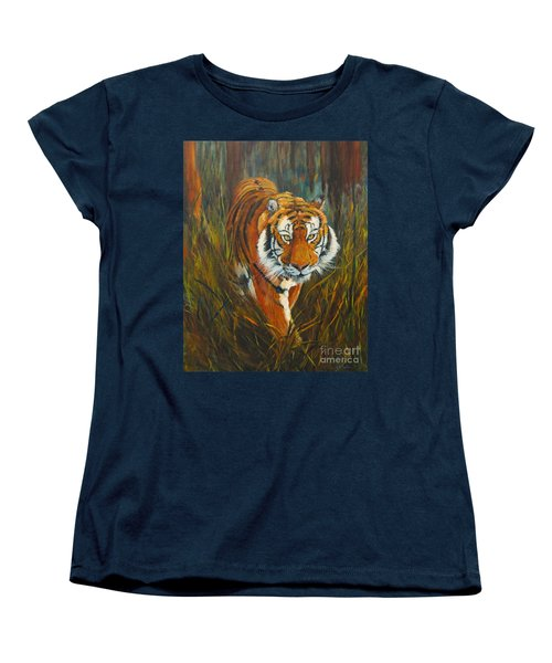 Women's T-Shirt (Standard Cut) featuring the painting Out Of The Woods by Beatrice Cloake