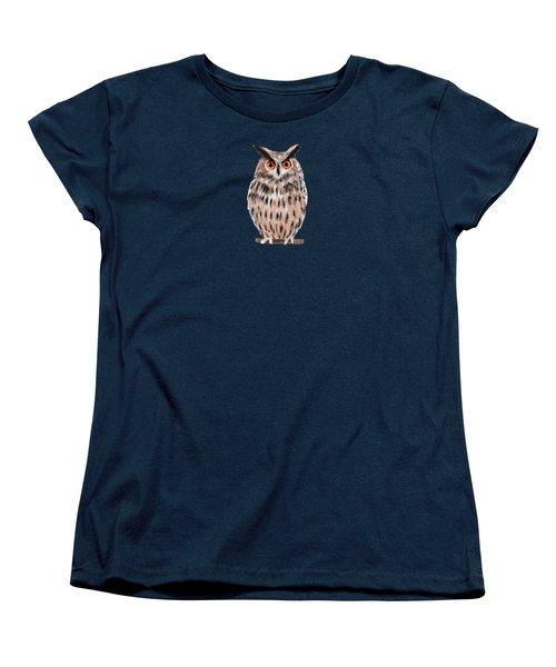 Owl Women's T-Shirt (Standard Cut) by Jean Pacheco Ravinski