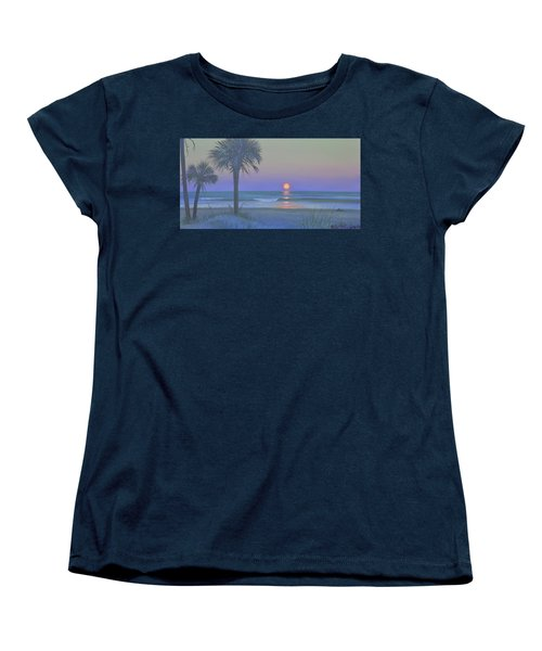 Palmetto Moon Women's T-Shirt (Standard Cut) by Blue Sky