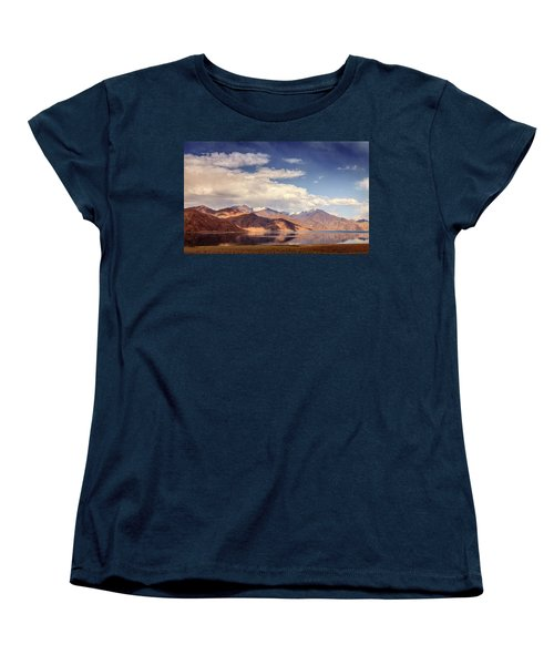Women's T-Shirt (Standard Cut) featuring the photograph Pangong Tso Lake by Alexey Stiop