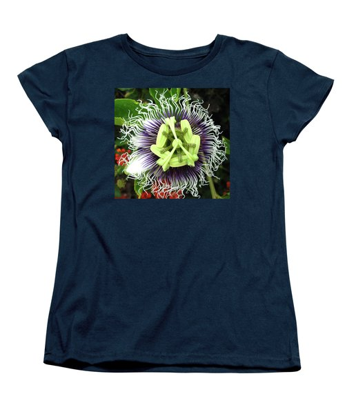 Passion Flower Women's T-Shirt (Standard Cut) by Mary Ellen Frazee