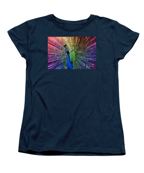 Peacock Women's T-Shirt (Standard Cut) by Hannes Cmarits