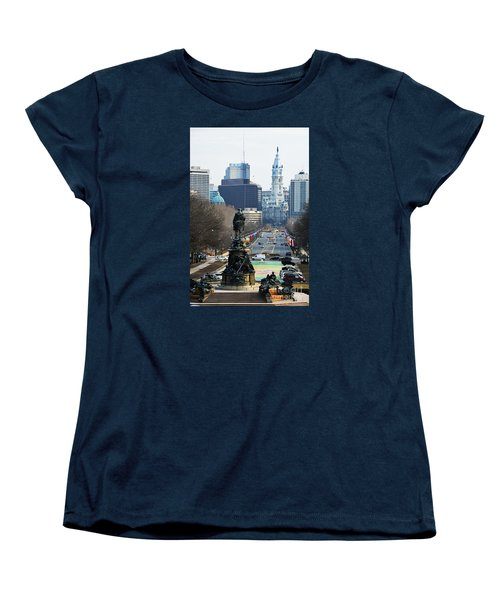 Philadelphia - The Parkway Women's T-Shirt (Standard Cut) by Cindy Manero