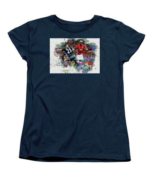 Pogba Street Art Women's T-Shirt (Standard Cut) by Don Kuing