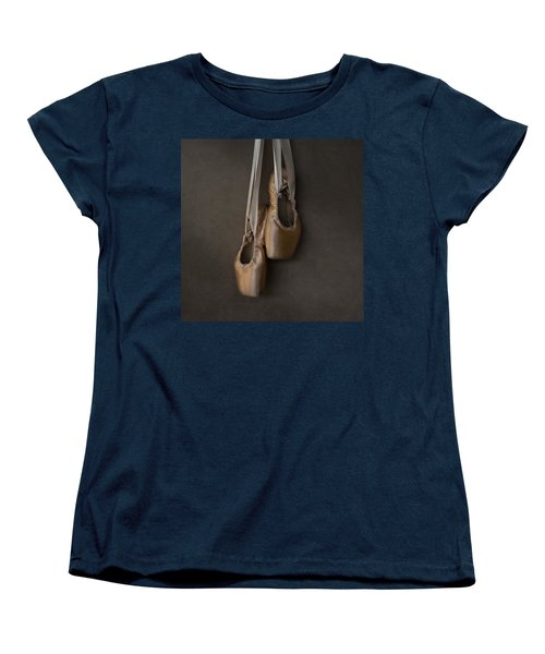 Women's T-Shirt (Standard Cut) featuring the photograph Sacred Pointe Shoes by Laura Fasulo