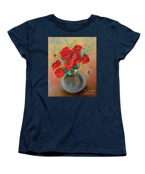 Poppies  Women's T-Shirt (Standard Cut) by Jasna Dragun
