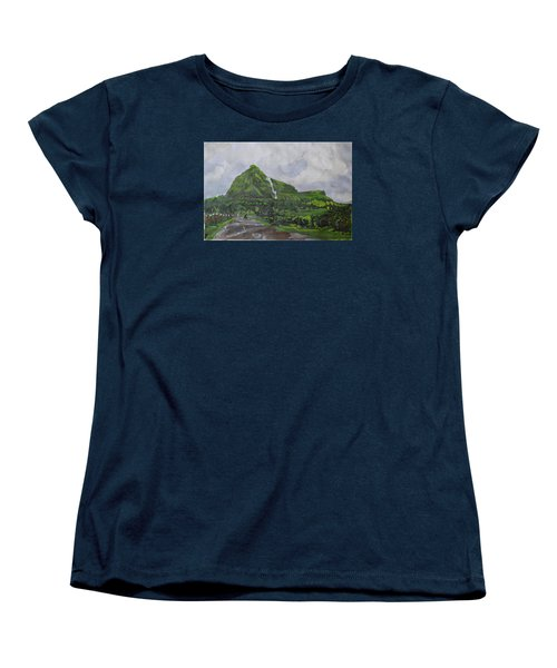 Women's T-Shirt (Standard Cut) featuring the painting Visapur Fort by Vikram Singh