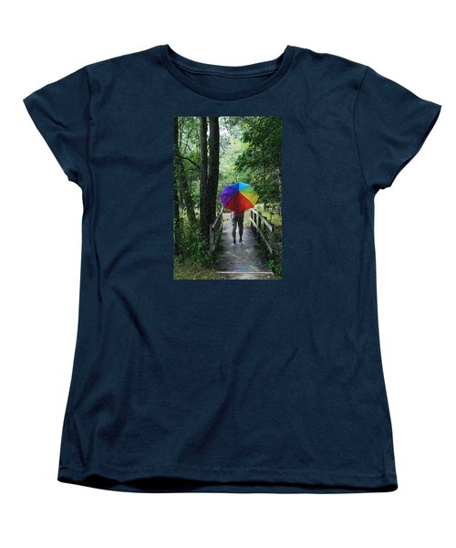 Rainy Day Women's T-Shirt (Standard Cut) by Judy  Johnson