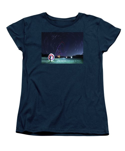 Real Golfers Even Golf At Night Women's T-Shirt (Standard Cut) by Andrew Nourse