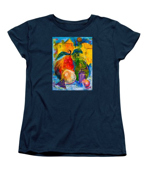 Red And Green Pears Women's T-Shirt (Standard Cut) by Maxim Komissarchik