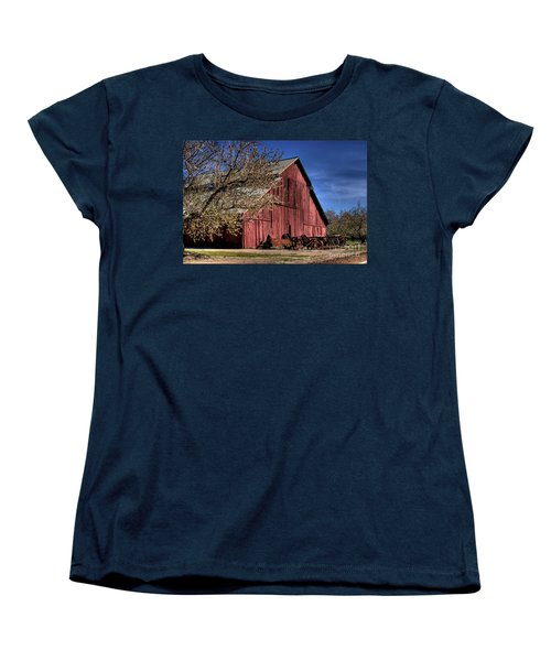 Women's T-Shirt (Standard Cut) featuring the photograph Red Barn by Jim and Emily Bush