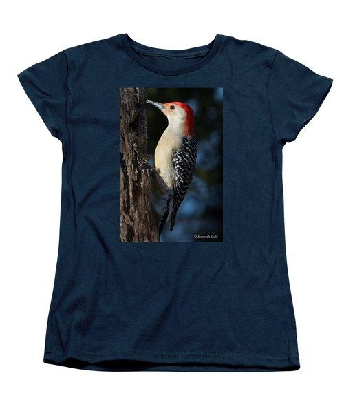 Red-bellied Woodpecker 3a Women's T-Shirt (Standard Cut) by Kenneth Cole