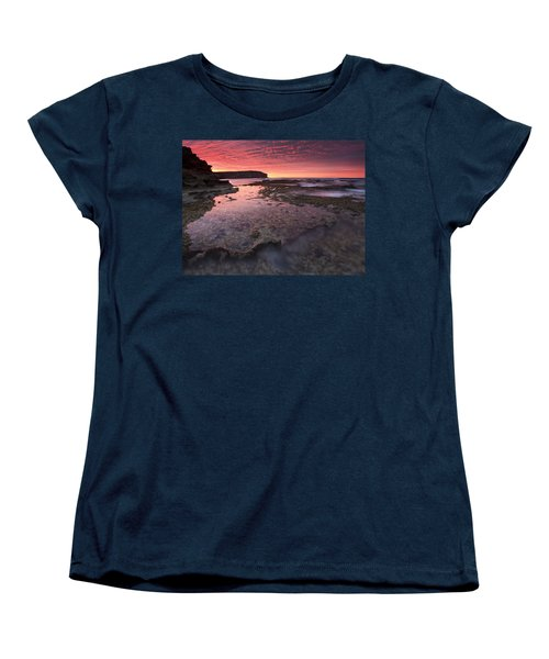 Red Sky At Morning Women's T-Shirt (Standard Cut) by Mike  Dawson