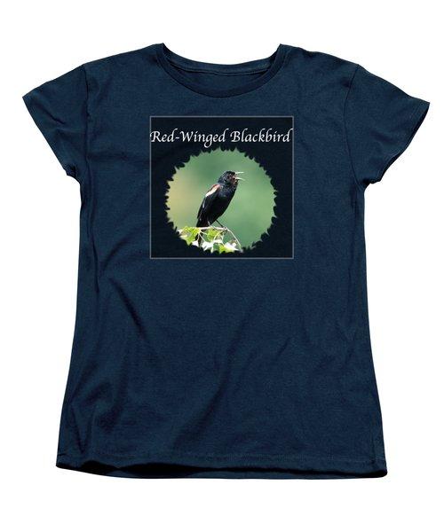 Red-winged Blackbird Women's T-Shirt (Standard Cut) by Jan M Holden